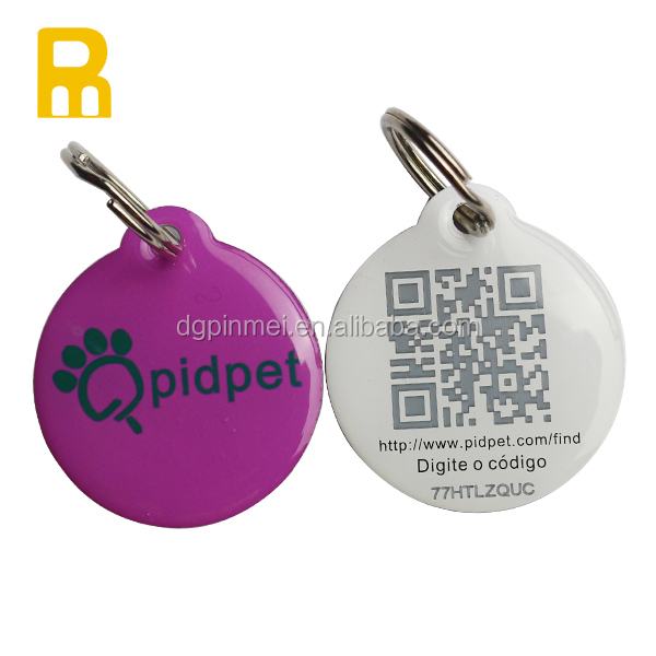 Personalized Custom Logo Rfid Pet Dog Tag Metal Id Qr Code Pet Tag For Dogs And Cats