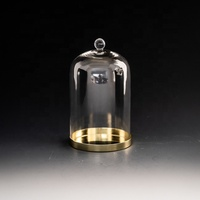 hand made custom mini bell jars glass cloche dome with base