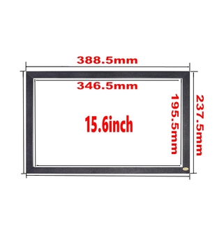 sratch-proof 15.6 inch infrared IR kiosk touch frame screen panel for touch screen pc tv support customized diy size 10-600inch