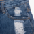 Summer fashion embroidery jeans pants kids denim shorts baby girls jeans shorts