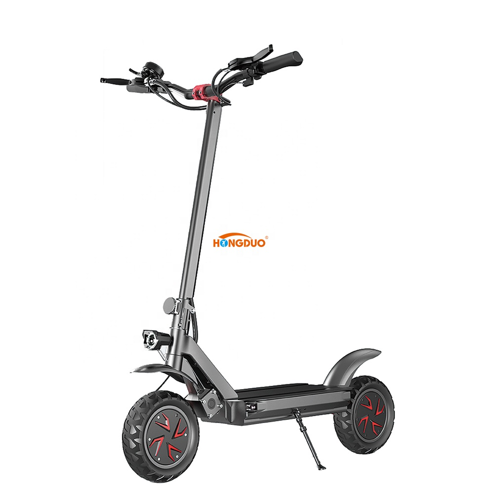 smart GPS 800W 48V offroad foldable 10 inch electric scooter adult with powerful lithium battery