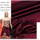 Bedding [ Silk ] Solid Color Burgundy 100% Silk Satin Fabric For Dress 25mm Silk Fabric For Garment