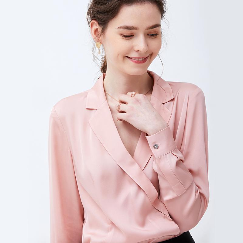 Venta al por mayor camisa de seda para mujer Compre online