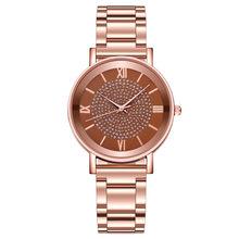 Reloj mujer, высококачественные роскошные женские часы, кварцевые часы из нержавеющей стали с циферблатом, модные повседневные часы с браслетом(Китай)