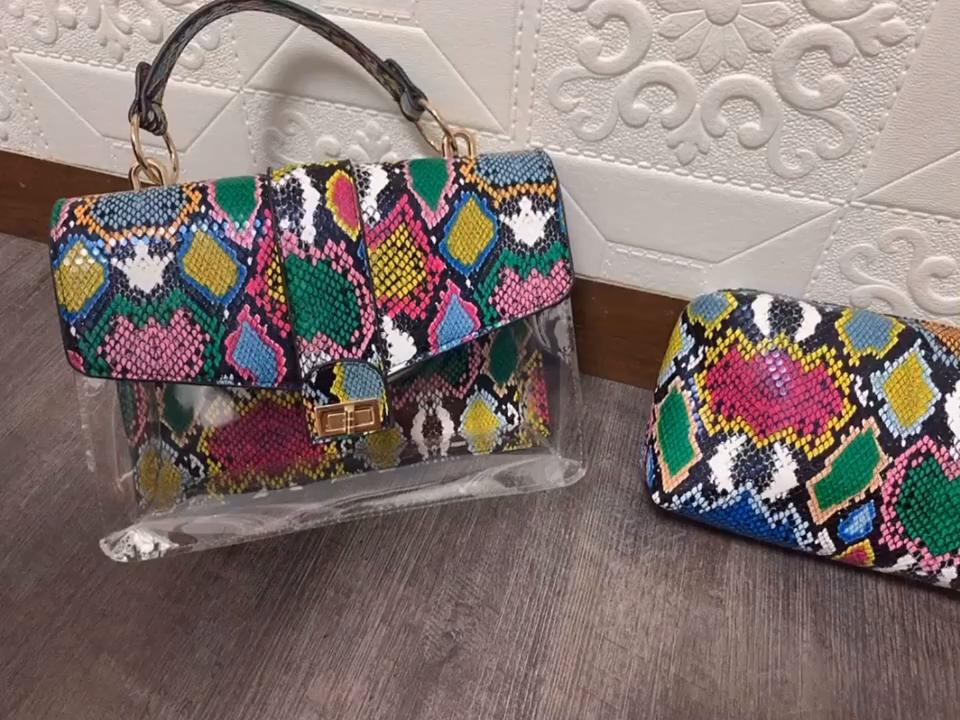 लेडी मिलान चप्पल और बैग पर्स सेट fashionables नाग प्रिंट हैंडबैग और जूते