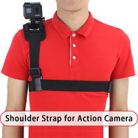 other camera accessories Shoulder Harness Mount shoulder strap + Screw + AEE adapter for gopro hero camera