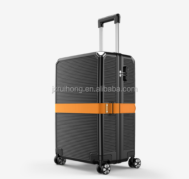 Valise de voyage professionnel à fermeture éclair, sac abs en pc, 20/24 pouces