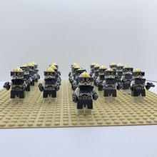 21 шт Звездные войны Штурмовик клон коммандер Trooper & Darth игрушки с Вейдером фигурки совместимые legoeinglys 75021 строительные блоки игрушки(Китай)