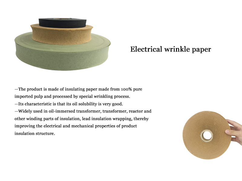 Width 20-1000mm Youda Electrical insulating crepe paper for transformer