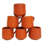 Terracotta Unglazed Clay Mud Tea Cup Set Of 6 using for Tea And Coffee 120ml