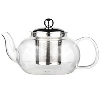 Hot Selling Useful Borosilicate Glass Tea Pot Christmas Gift Relax Blooming Tea Clear Glass Tea Pot With Infuser