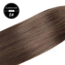 Прямые волосы в виде хвостика BHF, русская машина, Remy, конский хвостик, 2 #, темно-коричневый, 613 # блонд, 120 г, 24 дюйма, зажим в парике(Китай)