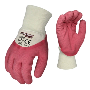 Double dip sandy latex glove china manufacturer