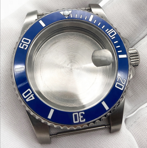 Watch Parts Making Fit 8200 8215 2813 2836 Sapphire Crystal With Magnifying Glass 316L Solid Stainless Steel Watch <strong>Case</strong>