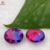 New Design 10*12mm  Oval Watermelon B1 Color Mixed Glass Stones Synthetic Tourmaline Stone