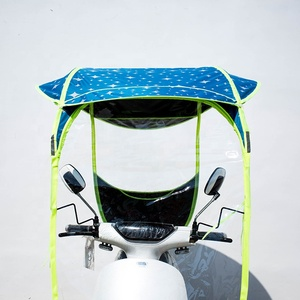 Motorbike Scooter Rain Cover Motorcycle Electric Sun Shade Vehicle Umbrella Raincoat Poncho Cover Shelter