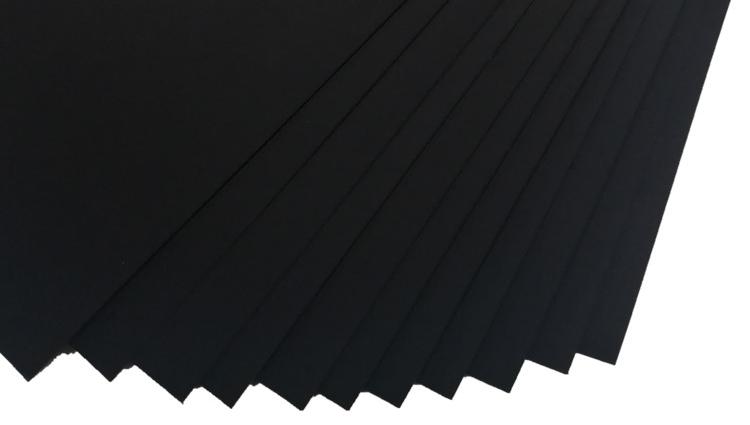 230gsm A4 Boyutlu Ofis Kırtasiye Siyah Kağıt Renk Kabartmalı klozet kapağı örtüsü