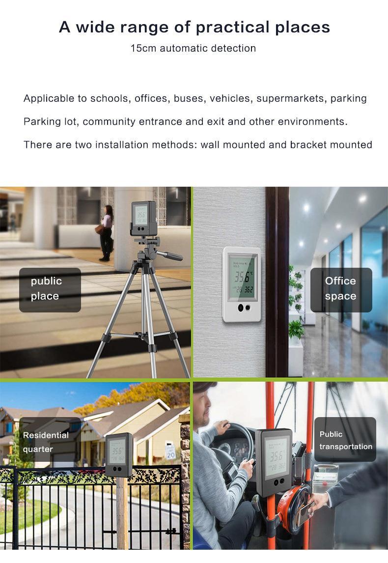 AI Temperature Measurement Device Automatic non-touch visitor body temperature detect guard for outdoor/indoor guard - KingCare | KingCare.net