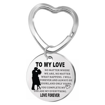 2019 Stainless Steel Military Keychain Valentine's Day Gift TO MY LOVE Couple Keychain