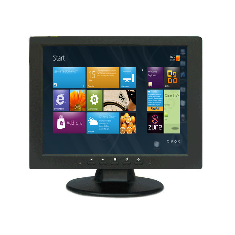 Vesa mounted or desktop 800*600 resolution 10.4 inch industrial lcd monitor