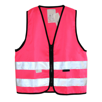 European Union Certification kids Custom Pink Color School Reflective Safety Vest