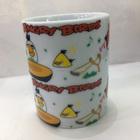 New Bone China Wenlin Factory Western Christmas Cheap Handmade 12oz Ceramic Mugs Gifts