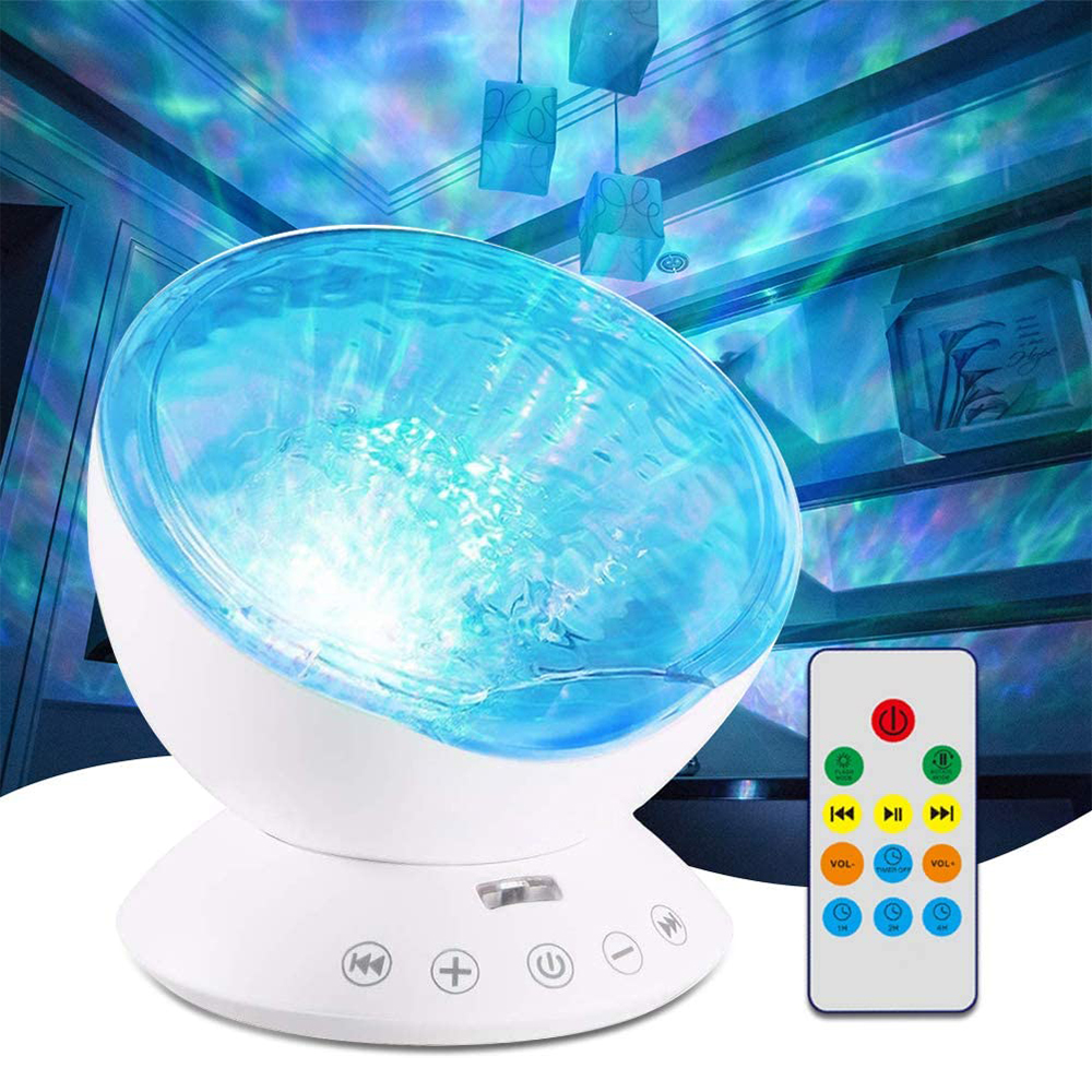 2020 Ocean Wave Projector 7 <strong>Color</strong> Changing Night <strong>Light</strong> Baby Sleep <strong>Light</strong> Projector for Kids Bedroom