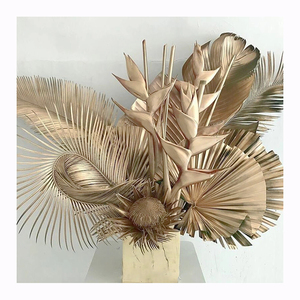 Instagram Dried Natural plants palm palm leaf plates For Wedding Decoration