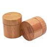 /product-detail/round-shape-cosmetic-containers-cream-2oz-glass-jars-bamboo-coated-with-wood-lid-smell-proof-hemp-storage-62403511859.html