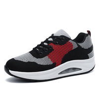 Autumn new fly-woven mesh surface breathable sports casual shoes women's thick-soled air cushion shoes