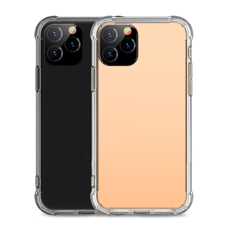 For iphone Apple Clear cell phone case, Soft Tpu Transparent 4 corner Shockproof phone case for new iphone 11 XI 5.8 2019