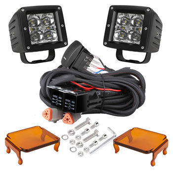 2pcs Driving Lights Led Pods Combo Beam Boat Lights Waterproof 3 Inch 20W LED Work Light Automobiles & motorcycles
