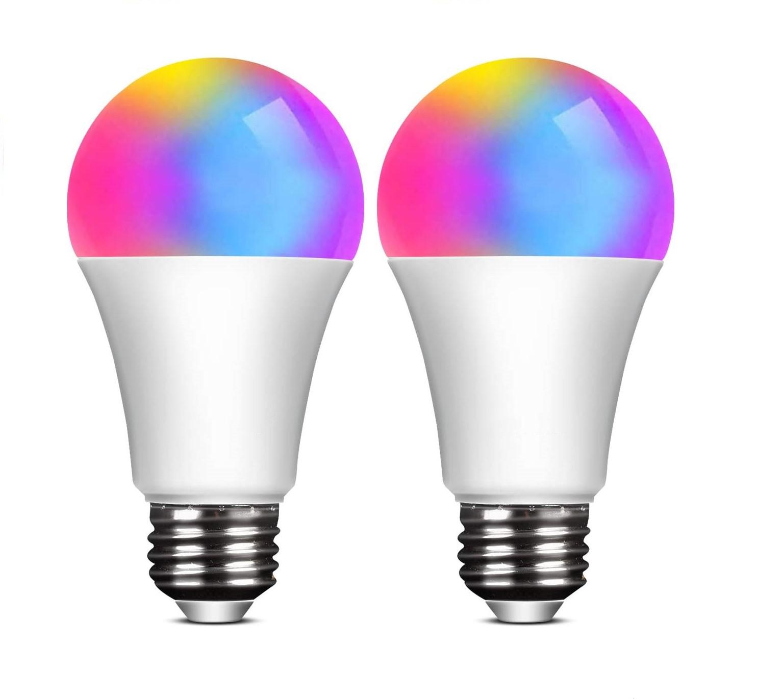 Smart Phone Remote Controlled wifi app A60 e26 E27 RGB 7w 9w 12w indoor wifi smart led light bulb