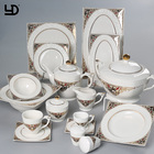 Ceramic Dinner Set Dinnerware High Temperature White Dinner Set Bone China Bowl Plate durable Porcelain Dinnerware+Sets