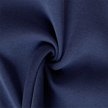 Modern design Cheap plain dyed dark blue 100% polyester knitted spun fleece fabric by the yard