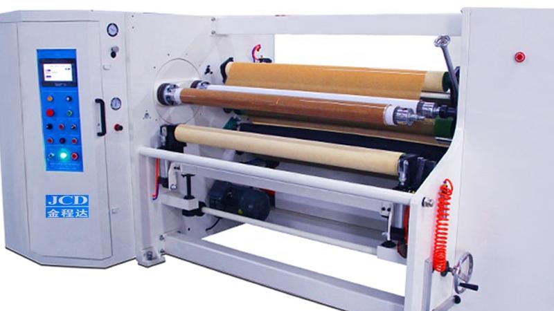 Computer high speed double shafts  rewinding machine for Masking tape, foam tape, film, turret shafts rewinder