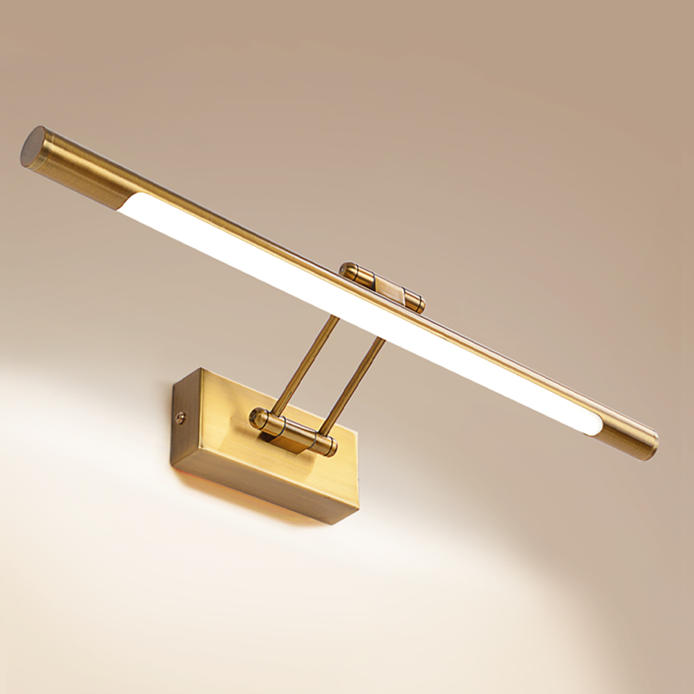 Brass wall light modern bedroom brass picture light wall bedside light 8w wall reading lamp indoor sconce lamp