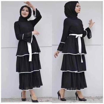 2019 wholesale new arrival high quality full lace embroidery fabric design dress muslim abaya