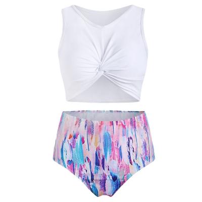 Hot Sale Pabrik Langsung Gadis Pakaian Renang Kustom Baju Renang Bikini Wanita Baju Renang dengan Harga Yang Baik