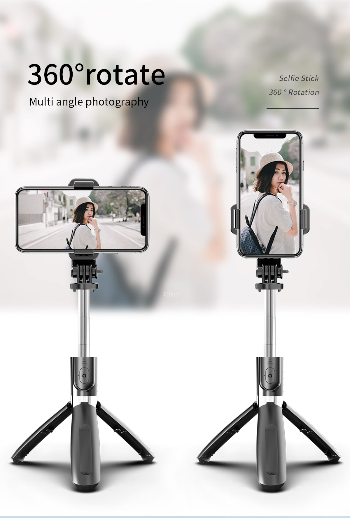 Mini Travel Flexible stainless steel Selfie Stick Retractable Wireless Tripod for Smartphone iPhone Mobile Cell Phone