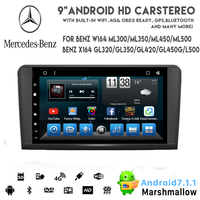 Vshauto! Android 9.0 car dvd for 2005-2012 ML GL320 GL350 ML350 with 9inch DSP HDMI OUT Capacitive Ips Screen/ GPS/Mirror