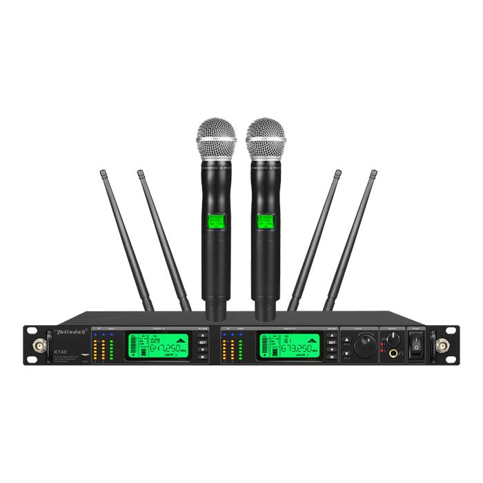 Desempenho KT4D verdadeira diversidade 200 freqüência sem fio microfone de lapela
