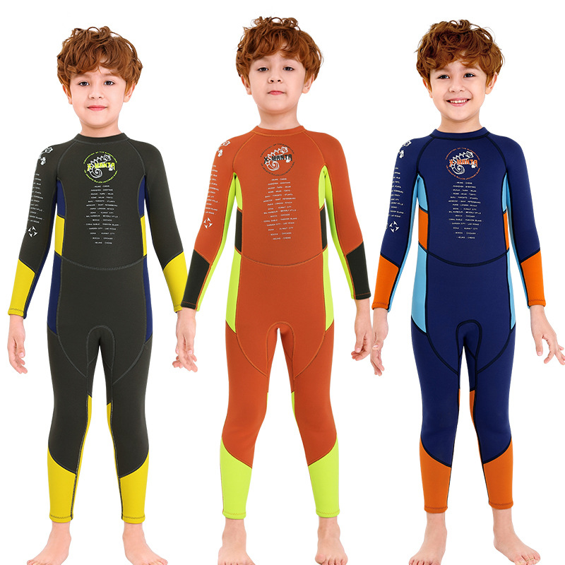 Hot Sale Surfing Wetsuit Kids Boys 2.5mm Full Body Diving Wetsuit in 2020