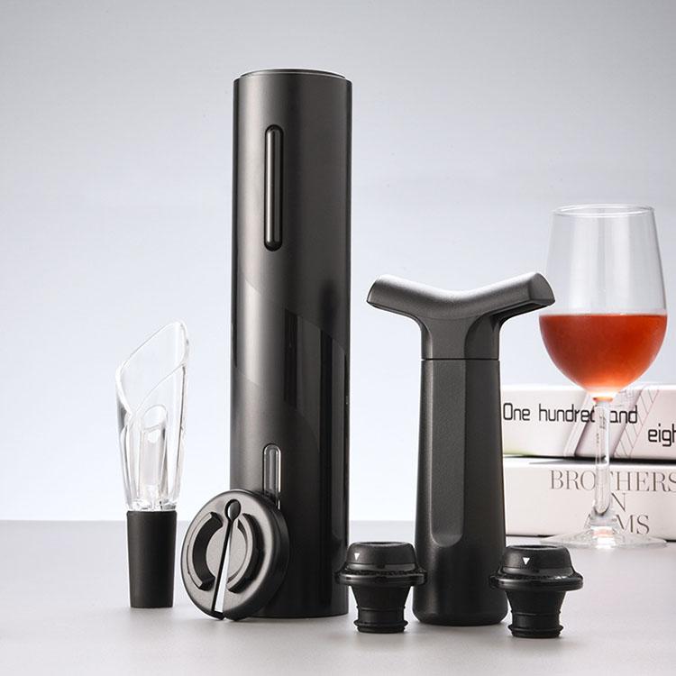 Премиум USB Перезаряжаемый автоматический Электрический штопор открывалка для бутылок комплект со съемными Бесплатная фольга резак