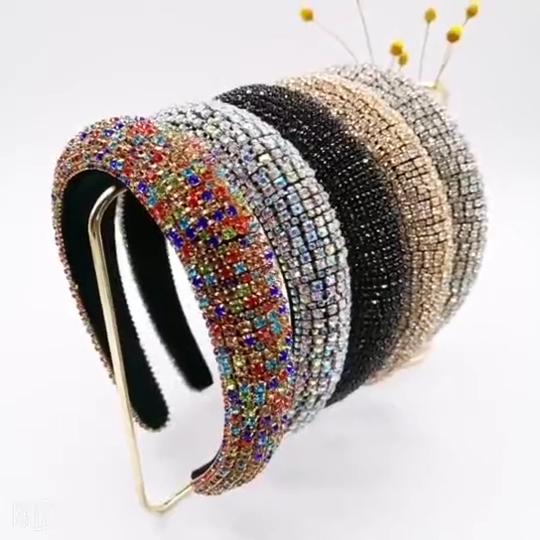 יוקרה נשים diademas סרטי ראש מפואר סרט שיער קריסטל hairbands מעצב יהלומי hairbands ריינסטון בלינג סרט סרטי ראש