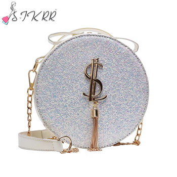 French bling small hand bags 2020 hot Autumn women new fashion round cake designers handbags bags