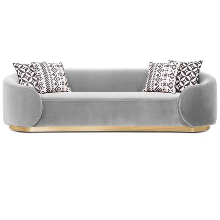 Low Back Modern Lounge Sofa, Living Room Velvet Fabric Sofa, Customized Velvet Sofa Furniture