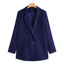 ZANZEA женские блейзеры с отложным воротником и двойной грудью, мода 2020, Офисная Женская верхняя одежда, рабочие пальто, Chaqueta Mujer Casaco(Китай)