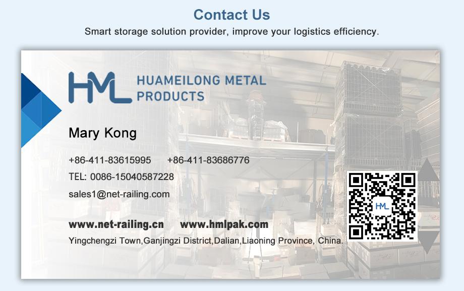 Durável do revestimento do pó de aço ao ar livre empilhadeiras armazém de armazenamento de empilhamento recipiente de malha de arame de metal dobrável