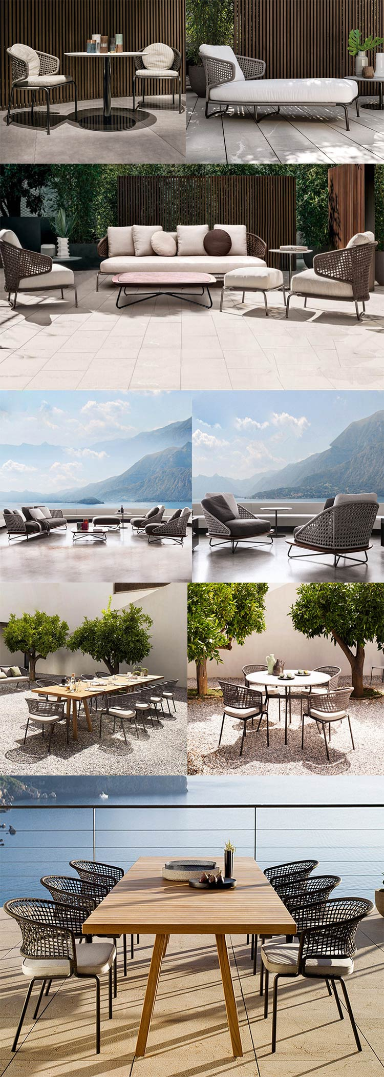 Hot sell High end luxury modern sectio<em></em>nals wicker rattan outdoor furniture